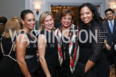 Marci Young, Mieka Wick, Debbi Jarvis, Siobhan Davenport. Photo by Tony Powell. 2017 Teach for America Gala. Ritz Carlton. February 21, 2017