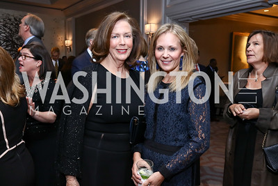 Ginger Pape, Deborah Lehr. Photo by Tony Powell. 2017 Teach for America Gala. Ritz Carlton. February 21, 2017