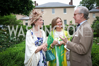 Pam Jenkinson, Dede and Jimmy Caughman. Photo by Tony Powell. 2017 Tudor Place Garden Party. May 24, 2017