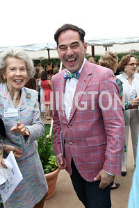 Bobbie Brewster, Christian Zapatka. Photo by Tony Powell. 2017 Tudor Place Garden Party. May 24, 2017