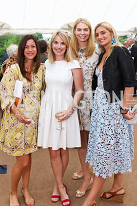 Julia Kottafavi, Lauren Bennitt, Charlotte Grassi Aukamp, Katherine Pingree. Photo by Tony Powell. 2017 Tudor Place Garden Party. May 24, 2017