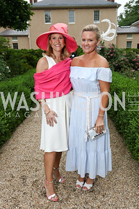Co-Chairs Blair Bourne and Sassy Jacobs. Photo by Tony Powell. 2017 Tudor Place Garden Party. May 24, 2017
