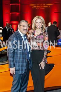 Bob Hisaoka, Katherine Bradley. Photo by Tony Powell. 2017 VIP Exotic Car & Luxury Lifestyle Reception. January 25, 2017