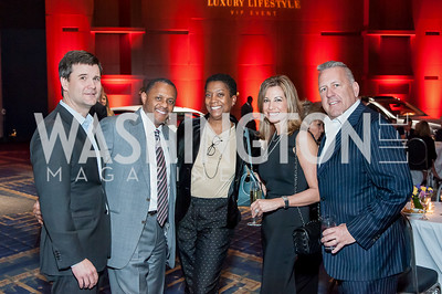 Scott Darling, Mark and Brenda Moore, Mona and John Oswald. Photo by Tony Powell. 2017 VIP Exotic Car & Luxury Lifestyle Reception. January 25, 2017