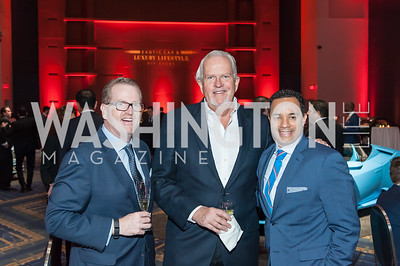 Jim Van Stone, Jack Davies, Brian Kenner. Photo by Tony Powell. 2017 VIP Exotic Car & Luxury Lifestyle Reception. January 25, 2017