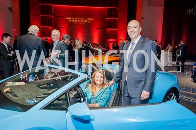 Catherine and Alex Triantis. Photo by Tony Powell. 2017 VIP Exotic Car & Luxury Lifestyle Reception. January 25, 2017