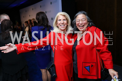 Kandy Stroud, Tina Tchen. Photo by Tony Powell. Vital Voices 2017 Global Leadership Awards. Kennedy Center. March 8, 2017