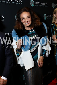 Diane von Furstenberg. Photo by Tony Powell. Vital Voices 2017 Global Leadership Awards. Kennedy Center. March 8, 2017