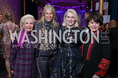 Dianne Kay, Michelle Olson, Jan Smith, Marlene Malek. Photo by Tony Powell. Vital Voices 2017 Global Leadership Awards. Kennedy Center. March 8, 2017