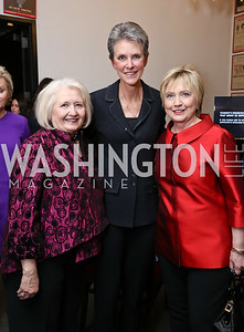 Melanne Verveer, Beth Brooke, Hillary Clinton. Photo by Tony Powell. Vital Voices 2017 Global Leadership Awards. Kennedy Center. March 8, 2017