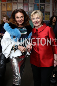 Diane von Furstenberg, Hillary Clinton. Photo by Tony Powell. Vital Voices 2017 Global Leadership Awards. Kennedy Center. March 8, 2017