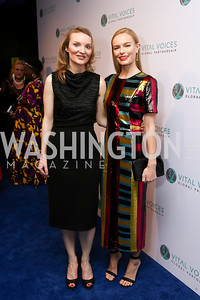 Alyse Nelson, Kate Bosworth. Photo by Tony Powell. Vital Voices 2017 Global Leadership Awards. Kennedy Center. March 8, 2017