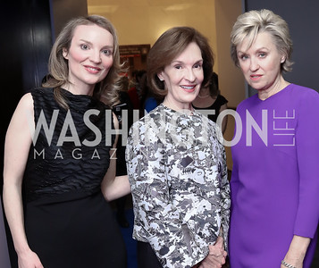 Alyse Nelson, Donna McLarty, Tina Brown. Photo by Tony Powell. Vital Voices 2017 Global Leadership Awards. Kennedy Center. March 8, 2017