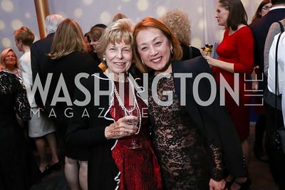 Bitsey Folger, Sachiko Kuno. Photo by Tony Powell. Vital Voices 2017 Global Leadership Awards. Kennedy Center. March 8, 2017