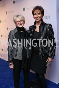 Kay Ellen Consolver, Liz Friedman. Photo by Tony Powell. Vital Voices 2017 Global Leadership Awards. Kennedy Center. March 8, 2017