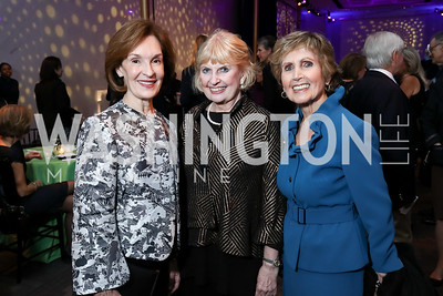 Donna McLarty, Mary Yerrick, Connie Morella. Photo by Tony Powell. Vital Voices 2017 Global Leadership Awards. Kennedy Center. March 8, 2017