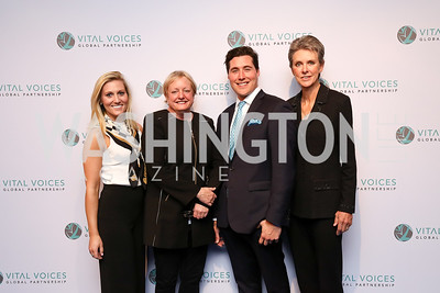 Caroline Guidera, Elizabeth Birch, James Dennin, Vital Voices Board Chair Beth Brooke. Photo by Tony Powell. Vital Voices 2017 Global Leadership Awards. Kennedy Center. March 8, 2017