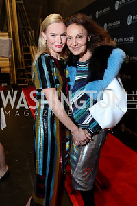 Kate Bosworth, Diane von Furstenberg. Photo by Tony Powell. Vital Voices 2017 Global Leadership Awards. Kennedy Center. March 8, 2017