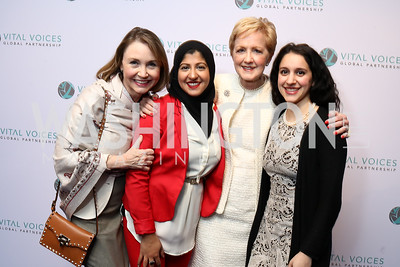 Megan Beyer, Attia Nasar, Ann Stock, Melissa Dilber. Photo by Tony Powell. Vital Voices 2017 Global Leadership Awards. Kennedy Center. March 8, 2017