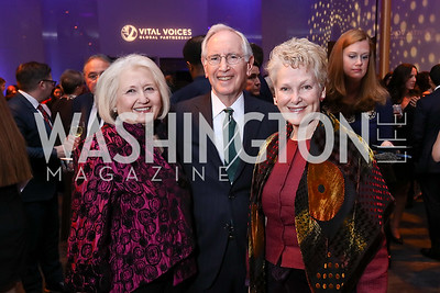 Melanne and Phil Verveer, Amb. Swanee Hunt. Photo by Tony Powell. Vital Voices 2017 Global Leadership Awards. Kennedy Center. March 8, 2017