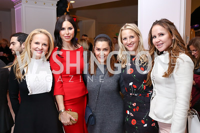 Jamie Dorros, Amy Baier, Micky Farivar, Carrie Marriott, Jocelyn Greenan. Photo by Tony Powell. 2017 WB Nutcracker Tea. NMWA. December 10, 2017