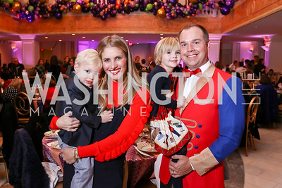 Brody, Ashley, Birdie and Matt Bronczek. Photo by Tony Powell. 2017 WB Nutcracker Tea. NMWA. December 10, 2017