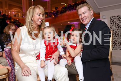 Holidae Hayes, Lily Grace Gavin, Savannah Rose Gavin, Matt Gavin. Photo by Tony Powell. 2017 WB Nutcracker Tea. NMWA. December 10, 2017