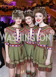Anna Kronthal, Leonie Aksyonov, Anna Looney. Photo by Tony Powell. 2017 WB Nutcracker Tea. NMWA. December 10, 2017