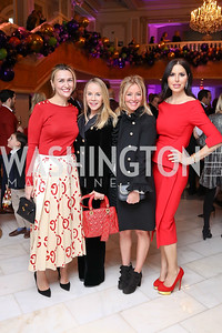 Amra Fazlic, Cindy Jones, Jayne Visser, Amy Baier. Photo by Tony Powell. 2017 WB Nutcracker Tea. NMWA. December 10, 2017