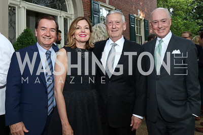 Rep. Ed Royce, Marie Royce, Gen. James Mattis, David Bradley. Photo by Tony Powell. 2017 WHCD Bradley Welcome Dinner. April 28, 2017