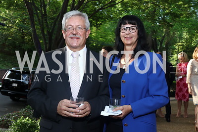 Switzerland Amb. Martin Dahinden and Anita Dahinden. Photo by Tony Powell. 2017 WHCD Bradley Welcome Dinner. April 28, 2017