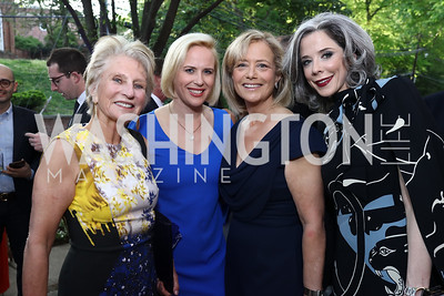 Jane Harman, Megan Murphy, Hilary Rosen, Heather Podesta. Photo by Tony Powell. 2017 WHCD Bradley Welcome Dinner. April 28, 2017