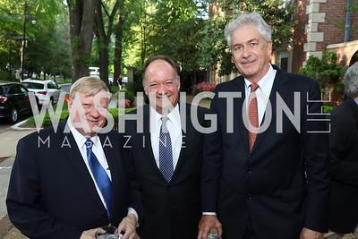 George Condon, Jack DiGioa, Bill Burns. Photo by Tony Powell. 2017 WHCD Bradley Welcome Dinner. April 28, 2017
