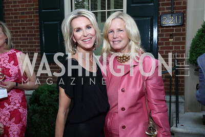 Mary Haft, Susan Blumenthal. Photo by Tony Powell. 2017 WHCD Bradley Welcome Dinner. April 28, 2017