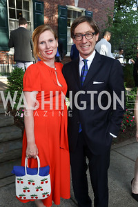 Huberta Wittig, Germany Amb. Peter Wittig. Photo by Tony Powell. 2017 WHCD Bradley Welcome Dinner. April 28, 2017