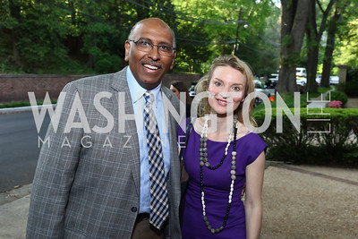 Michael Steele, Alyse Nelson. Photo by Tony Powell. 2017 WHCD Bradley Welcome Dinner. April 28, 2017