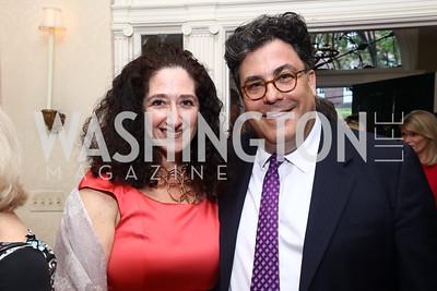 Dafna Tapiero, Alan Fleischmann. Photo by Tony Powell. 2017 WHCD Bradley Welcome Dinner. April 28, 2017