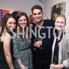 Meredith Balenske, Meghan O'Doherty, Bobby Touran, Jessica Straus. Photo by Tony Powell. 2017 WHCD Bytes & Bylines. DTR Modern Galleries. April 27, 2017