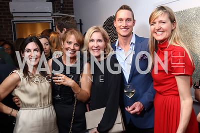 Jenn Haber, Rebecca Cooper, Elizabeth Thorp, Brendan Scanlon, Michelle Jaconi. Photo by Tony Powell. 2017 WHCD Bytes & Bylines. DTR Modern Galleries. April 27, 2017