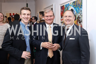 Max Friedman, Amb. Kurt Jaeger, Adam Shapiro. Photo by Tony Powell. 2017 WHCD Bytes & Bylines. DTR Modern Galleries. April 27, 2017