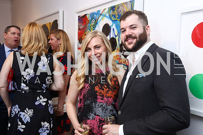 Gallery Owner Jennie Buehler, Henry Wittenzellner. Photo by Tony Powell. 2017 WHCD Bytes & Bylines. DTR Modern Galleries. April 27, 2017