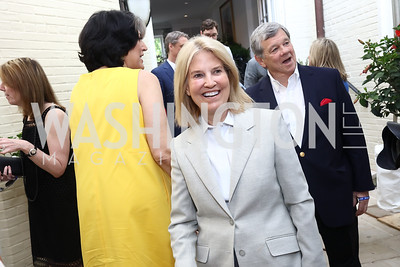 Greta Van Susteren and John Coale. Photo by Tony Powell. 2017 WHCD Garden Brunch. April 29, 2017