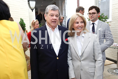 John Coale and Greta Van Susteren. Photo by Tony Powell. 2017 WHCD Garden Brunch. April 29, 2017