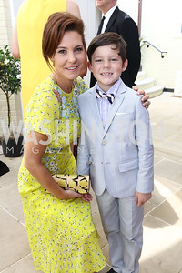 NBC Anchor Stephanie Ruhle and Reese Hubbard. Photo by Tony Powell. 2017 WHCD Garden Brunch. April 29, 2017