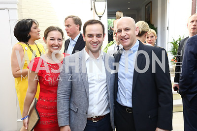 Dani Haskin, Sam Schear, Vornado Charles E Smith President Mitchell Schear. Photo by Tony Powell. 2017 WHCD Garden Brunch. April 29, 2017