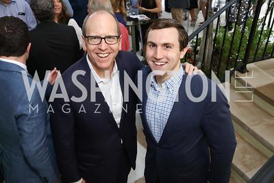 Jonathan and Michael Ledecky. Photo by Tony Powell. 2017 WHCD Garden Brunch. April 29, 2017
