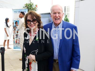 Ann and Lloyd Hand. Photo by Tony Powell. 2017 WHCD Garden Brunch. April 29, 2017