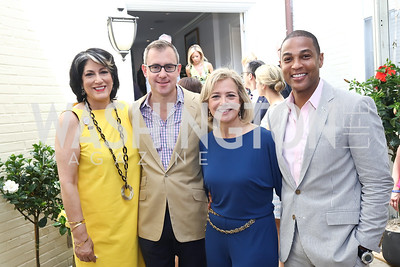 Tammy Haddad, Jeff Zeleny, Hilary Rosen, Don Lemon. Photo by Tony Powell. 2017 WHCD Garden Brunch. April 29, 2017