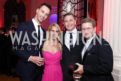 Richard Hudock, Dana Bash, Spencer Garrett, Sam Feist. Photo by Tony Powell. 2017 WHCD MSNBC After Party. OAS. April 29, 2017