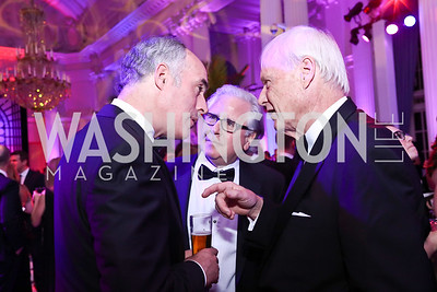 Sen. Bob Casey, Howard Fineman, Chris Matthews. Photo by Tony Powell. 2017 WHCD MSNBC After Party. OAS. April 29, 2017